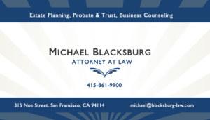 Michael Blacksburg Law, Card