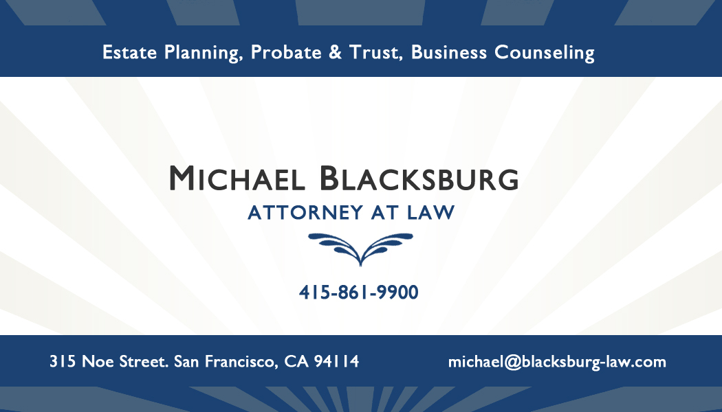 Michael Blacksburg Law, Card